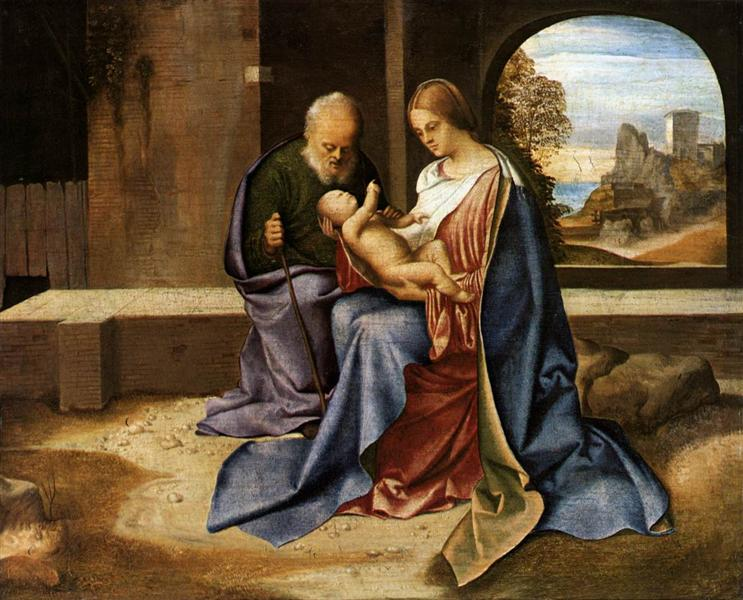The Holy Family (Madonna Benson), c.1500 - Giorgione